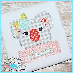Peek Koala Girl Blanket Stitch Applique