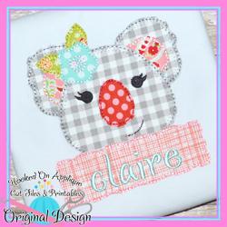 Peek Koala Girl Blanket Stitch Applique