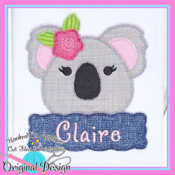 Peek Koala Girl Zig Zag Applique