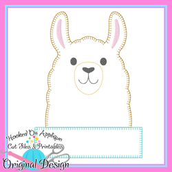 Peek Llama Blanket Stitch Applique