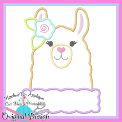 Peek Llama Girl Applique