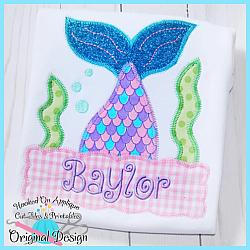 Peek Mermaid Zig Zag Applique