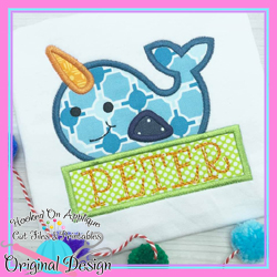 Peek Narwhal Applique