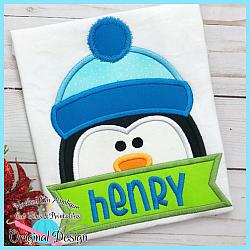 Peeking Penguin Applique