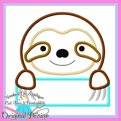Peek Sloth Applique