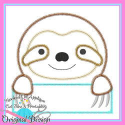 Peek Sloth Zig Zag Applique