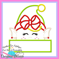 Peeking Girl Elf Applique