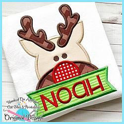 Peeking Rudolph Applique