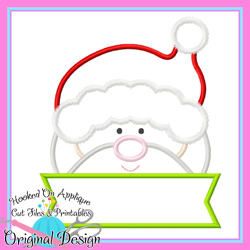 Peeking Santa Applique