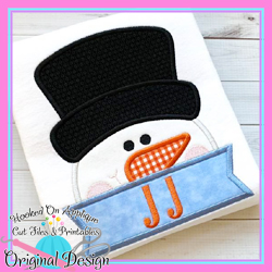 Peeking Snowman Applique