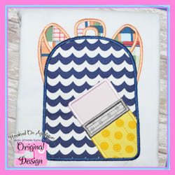 Pencil Backpack 2 Applique