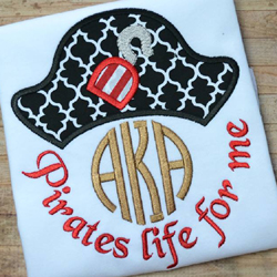 Pirates Life For Me Applique