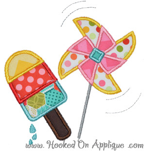 Popsicle & Pinwheel Applique