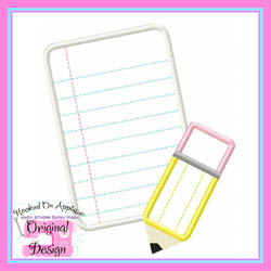 Paper Pencil Blank Applique