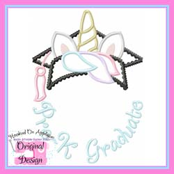 Pre K Unicorn Grad Applique