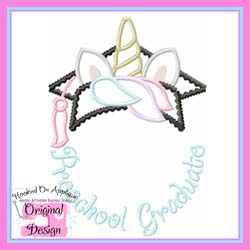 Preschool Unicorn Grad Applique