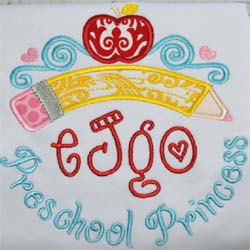 Preschool Princess Tiara Applique