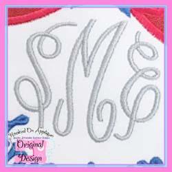 #HOA851 Pretty Monogram Embroidery
