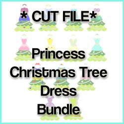 Princess Tree Dress CUT FILE Bundle
