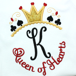 Queen of Hearts Applique