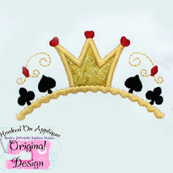 Queen of Hearts Tiara Applique