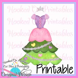 Rapunzel Tree Dress PNG Printable