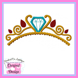 Ready to Rule Tiara Applique Design