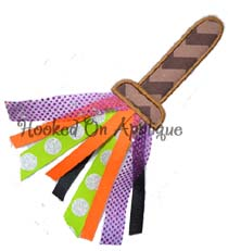 Broom Ribbon Applique