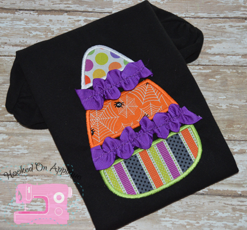 Ric Rac Candy Corn Applique