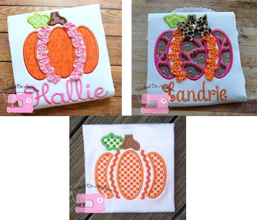 Ric Rac Pumpkin Applique