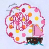 Sailboat Scallop Applique