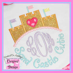 Sand Castle Cutie Applique