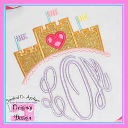 Sand Castle Topper Applique