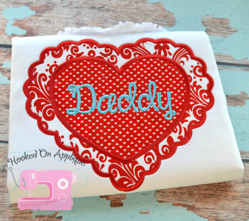 Scallop Heart Applique