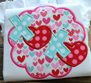Scallop XOXO Applique