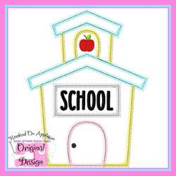 School House Apple Zig Zag Applique