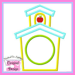 School House Circle Applique