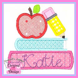 School Books Applique