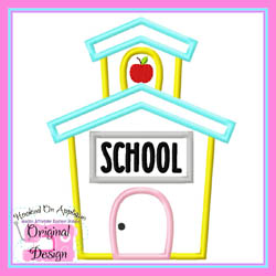 School House Apple Applique