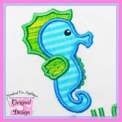 Seahorse Boy Applique