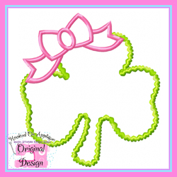 Shamrock Bow Applique Design