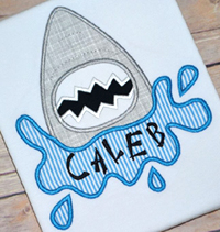 Shark Splash Applique