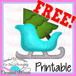 Sleigh Tree PNG Printable