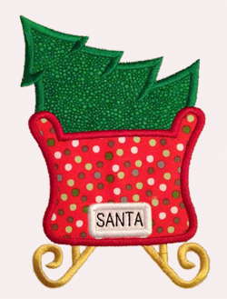 Sleigh Tree Applique