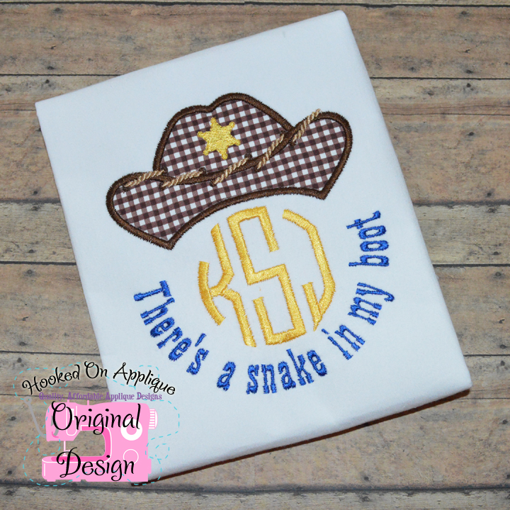 Snake in my boot Applique