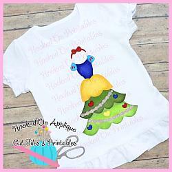 Snow Tree Dress PNG Printable