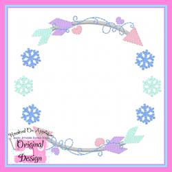 Snowflake Arrow Circle Embroidery Design