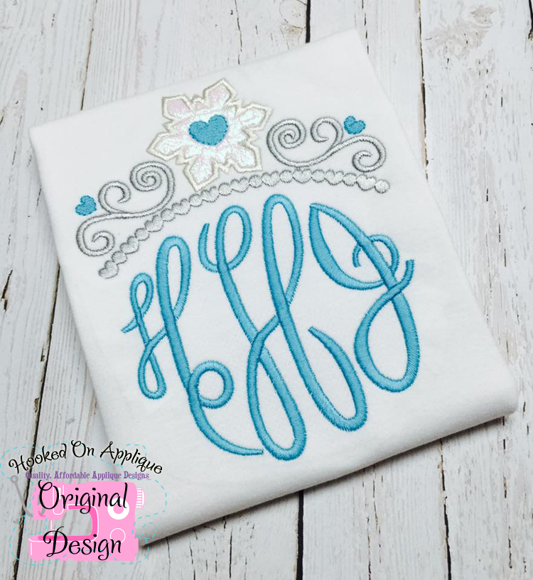 Snowflake Tiara Applique