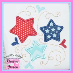 Stars and Swirls Applique
