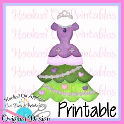 Sofia Tree Dress PNG Printable